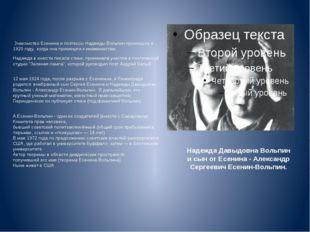 Надежда Давыдовна Вольпин и сын от Есенина - Александр Сергеевич Есенин-Вольп