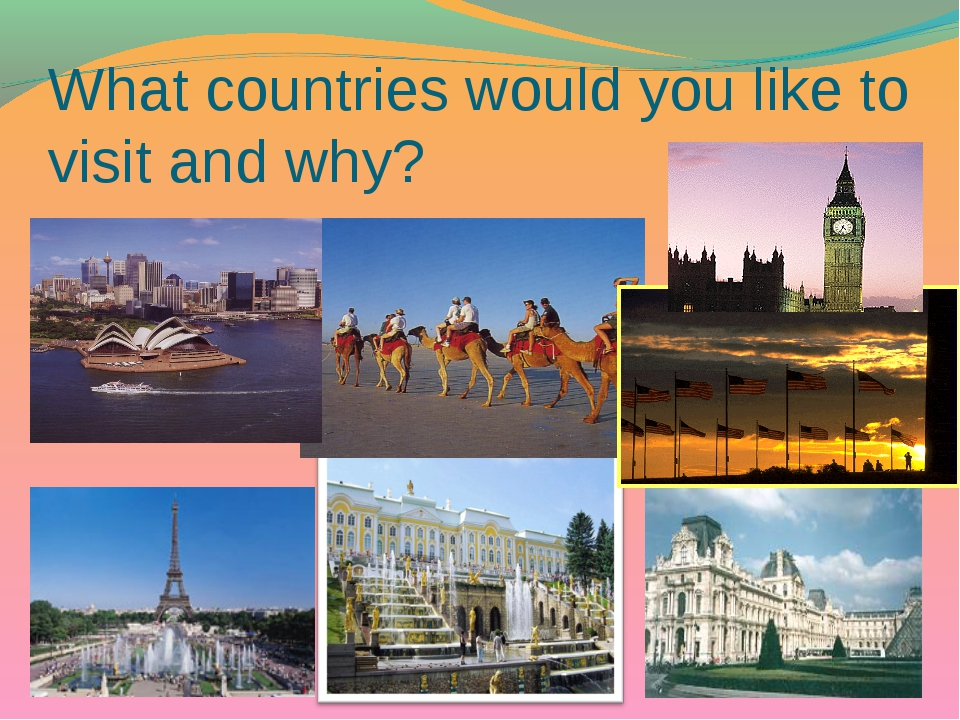 What countries would you like to visit and why?