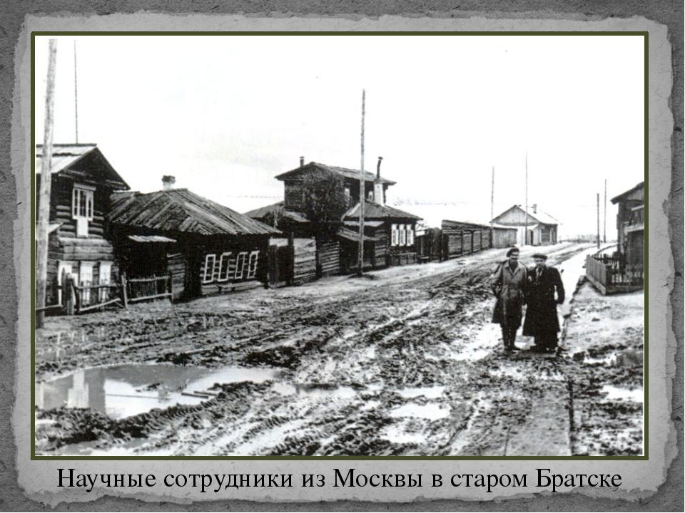 Научные сотрудники из Москвы в старом Братске