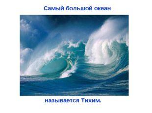 Самый большой океан называется Тихим.