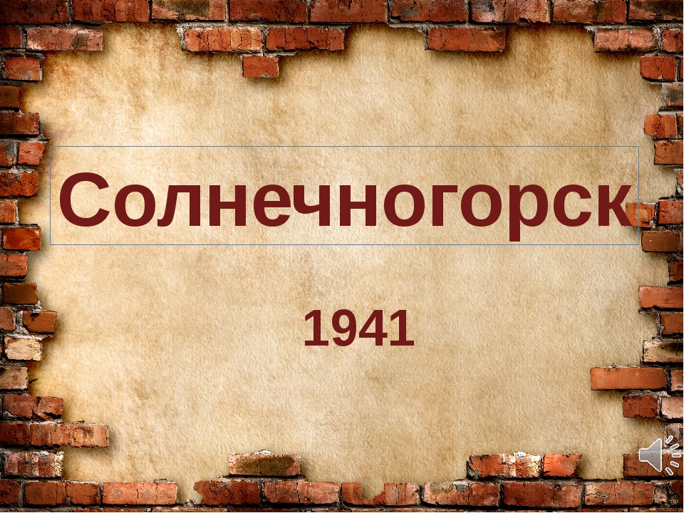 Солнечногорск 1941