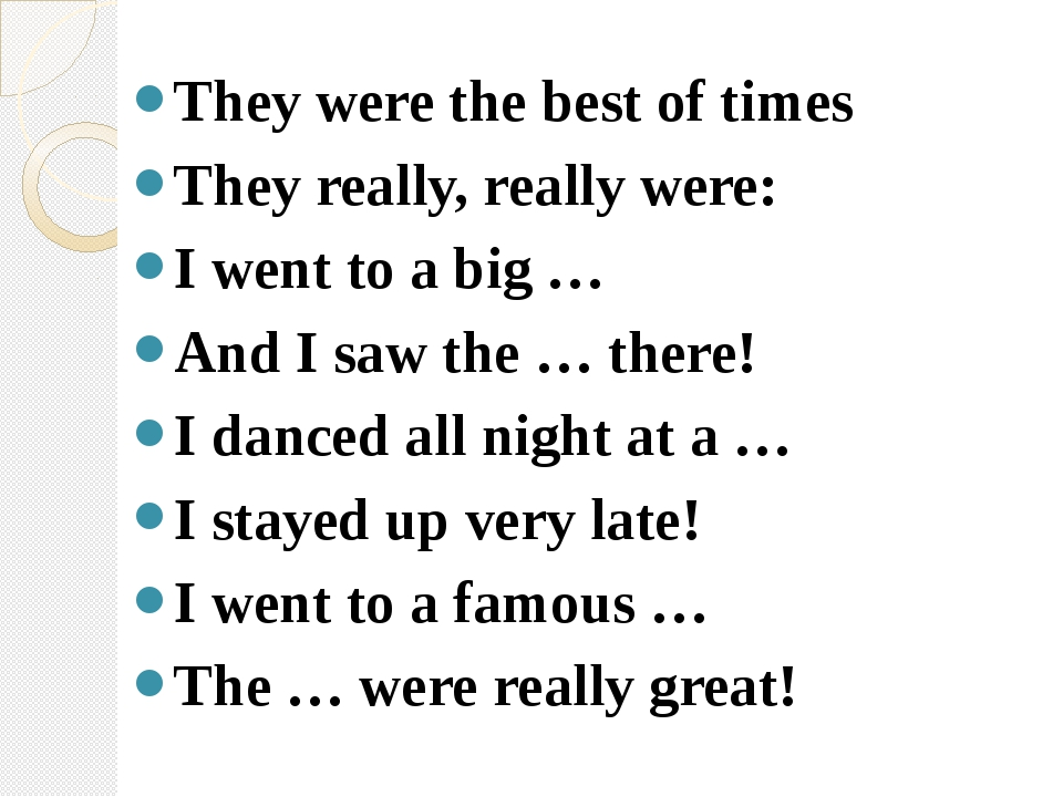 They were the best of times They really, really were: I went to a big … And...