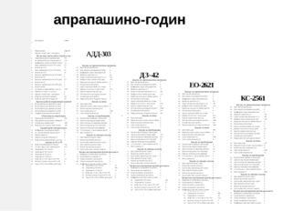 апрапашино-годин 1 Код машины КС004 2 Марка машины КС-2561 КС-2561 3 Признак: