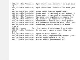 NSI_56 Double Precision, Срок службы смен. оснастки 1-го вида (маш-ч) NSI_57