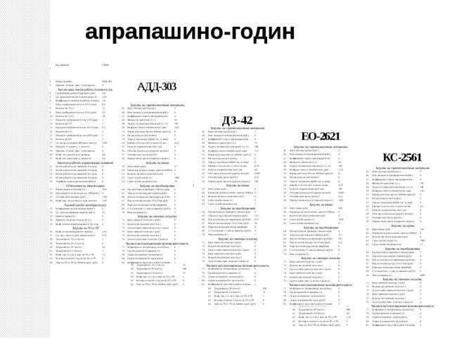 апрапашино-годин 1 Код машины КС004 2 Марка машины КС-2561 КС-2561 3 Признак:...