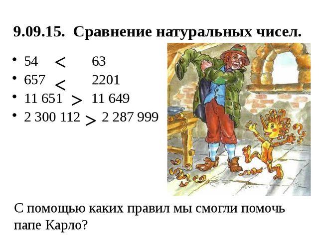 Презентация по теме сравнение натуральных чисел 5 класс