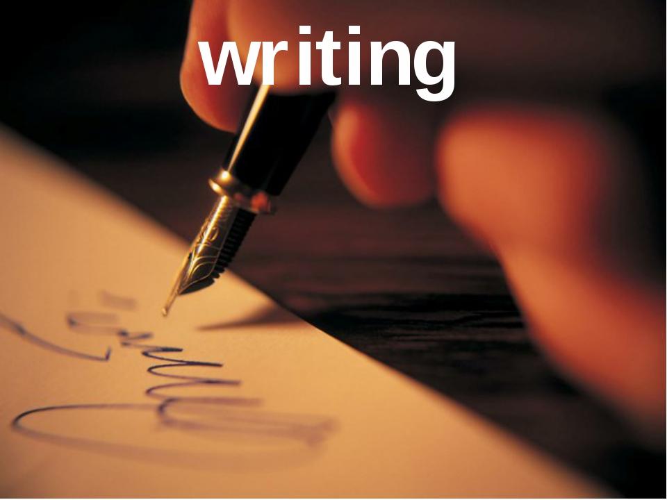 Writing writing