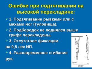 Ошибки при подтягивании на высокой перекладине: 1. Подтягивание рывками или с