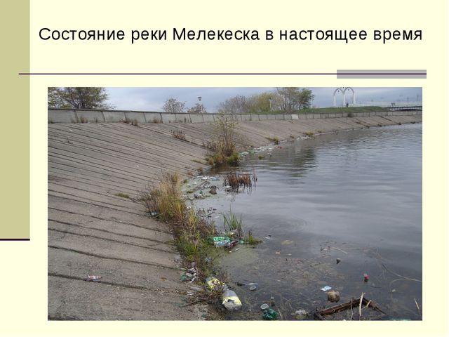 Состояние реки Мелекеска в настоящее время
