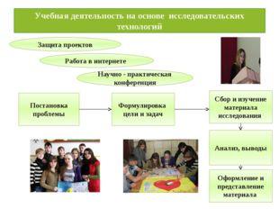 Учебная деятельность на основе исследовательских технологий Защита проектов Р