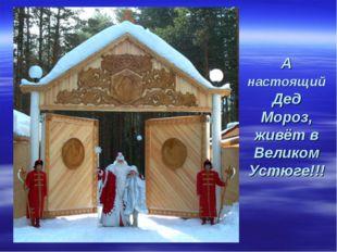 А настоящий Дед Мороз, живёт в Великом Устюге!!!