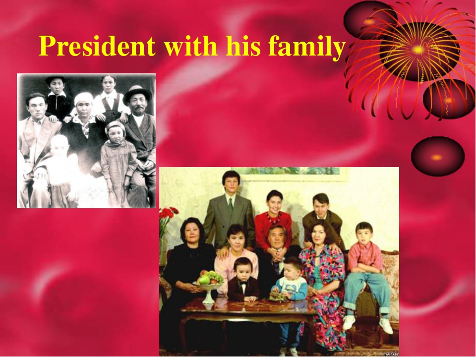 President with his family