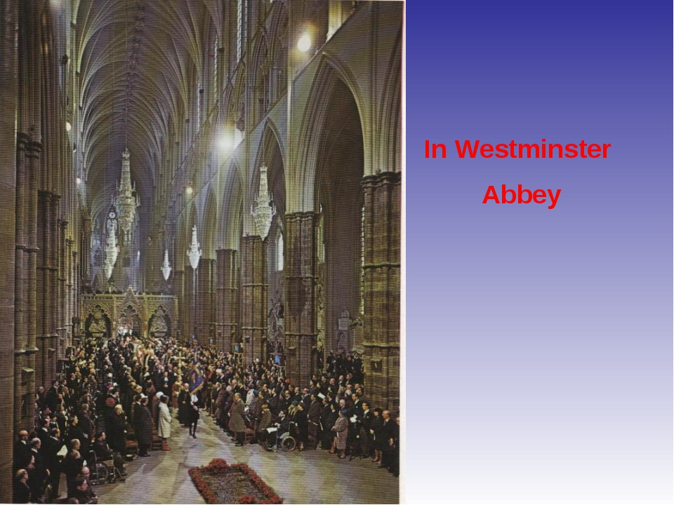 In Westminster Abbey