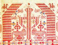 Церковная вышивка. берегиня и кони