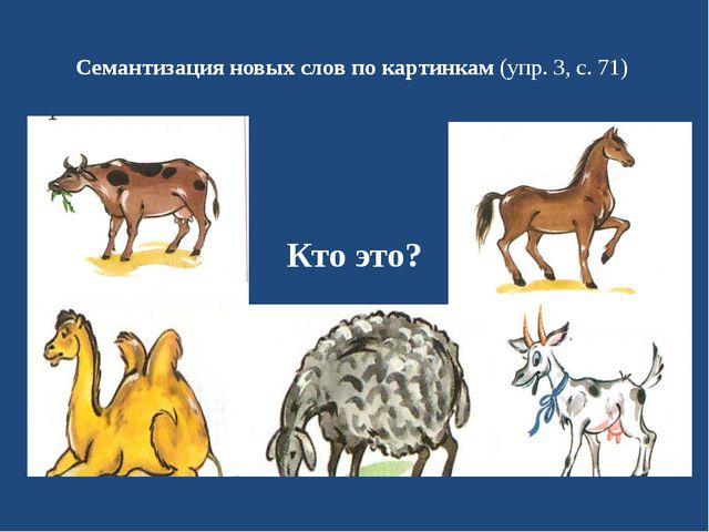 Семантизация новых слов по картинкам(упр. 3, с. 71) Кто это?