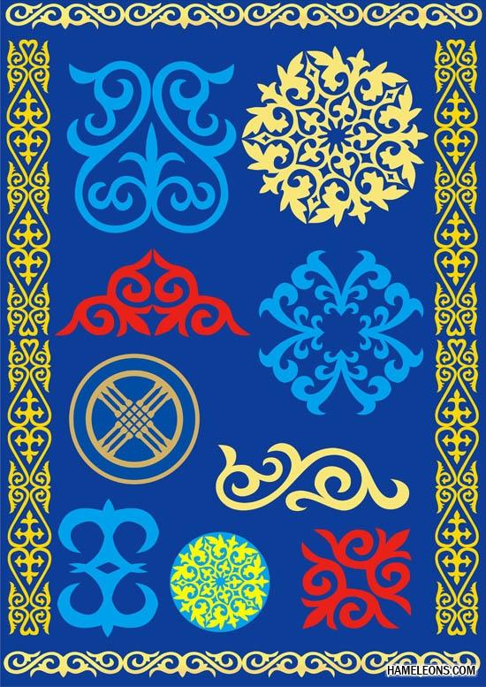 Все для казахстанского дизайнера: орнамент, символика, фото