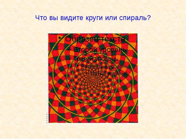 Что вы видите круги или спираль?