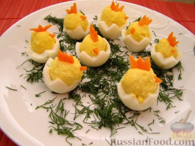Украшения для салатов с яиц с