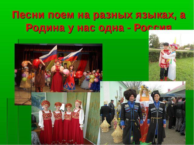 Песни поем на разных языках, а Родина у нас одна - Россия