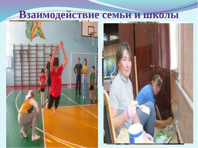 Взаимодействие семьи и школы