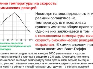 Несмотря на межвидовые отличия в реакции организмов на температуру, для всех