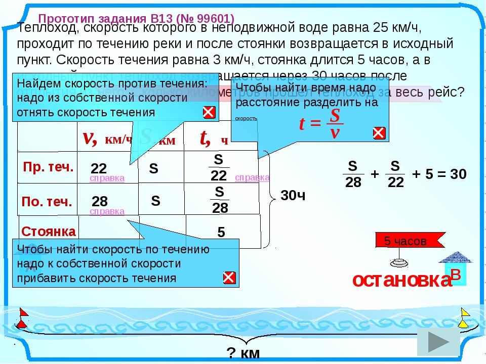 Теплоход, скорость которого в неподвижной воде равна 25 км/ч, проходит по те...