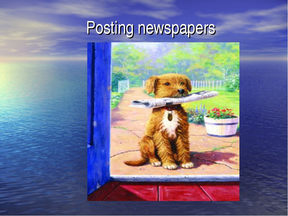 Posting newspapers