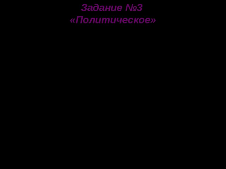 Задание №3 «Политическое» В какой стране мы живем? 16 декабря Казахстан объяв...