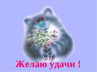 Желаю удачи !