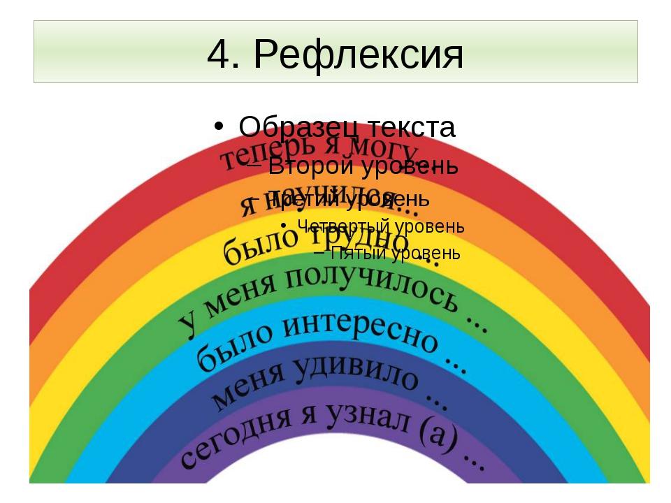 4. Рефлексия