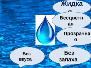 Жидкая Бесцветная Прозрачная Без запаха Без вкуса