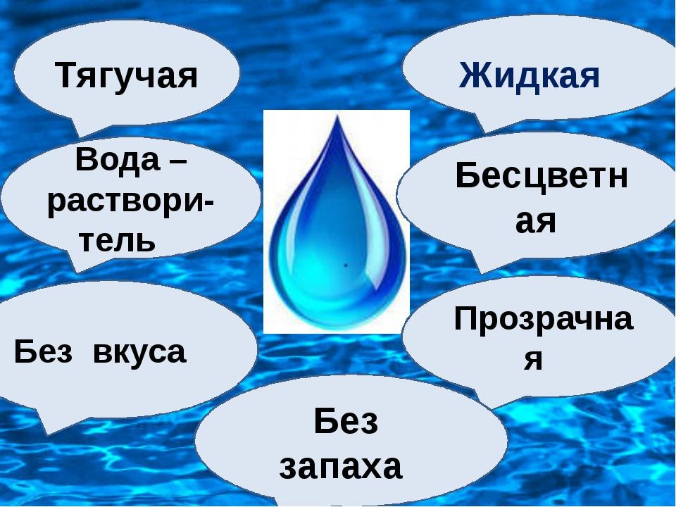 Жидкая Бесцветная Прозрачная Без запаха Без вкуса Вода –раствори- тель Тягучая