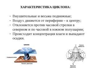 Внушительные и весьма подвижные; Воздух движется от периферии – к центру; Отк