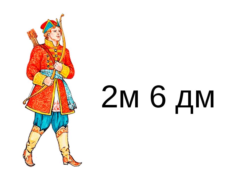 2м 6 дм