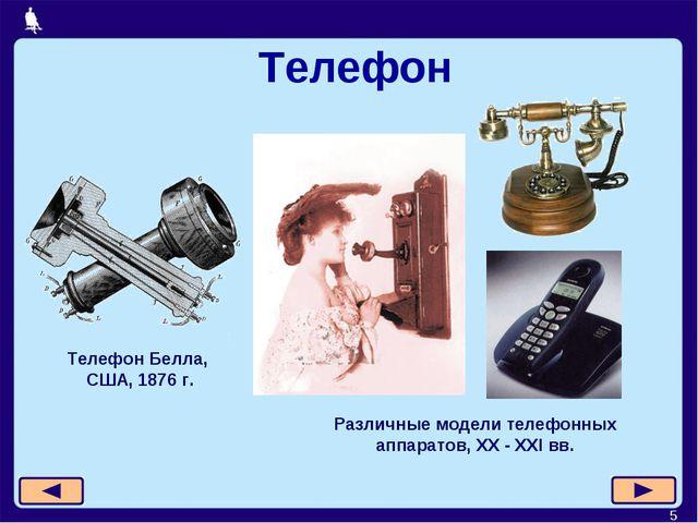 * Телефон Телефон Белла, США, 1876 г. Различные модели телефонных аппаратов,...