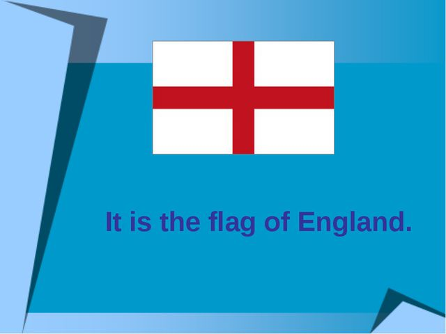 It is the flag of England.