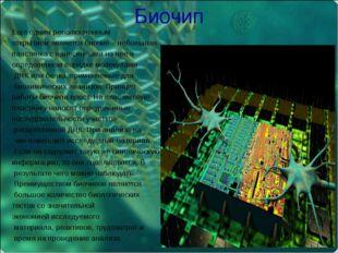 Биочип Еще одним революционным открытием является биочип – небольшая пластинк
