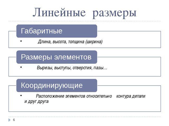 Линейные размеры