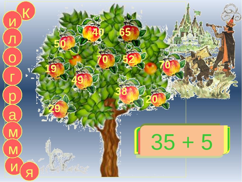20 + 30 к и л г а р о м и 14 + 5 50 19 50 - 30 20 59 - 7 52 79 - 9 70 4 + 34...