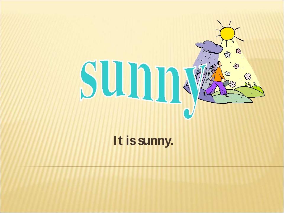 It is sunny.