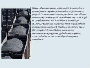 Северокавказский регион отличается богатством и разнообразием сырьевых и топ