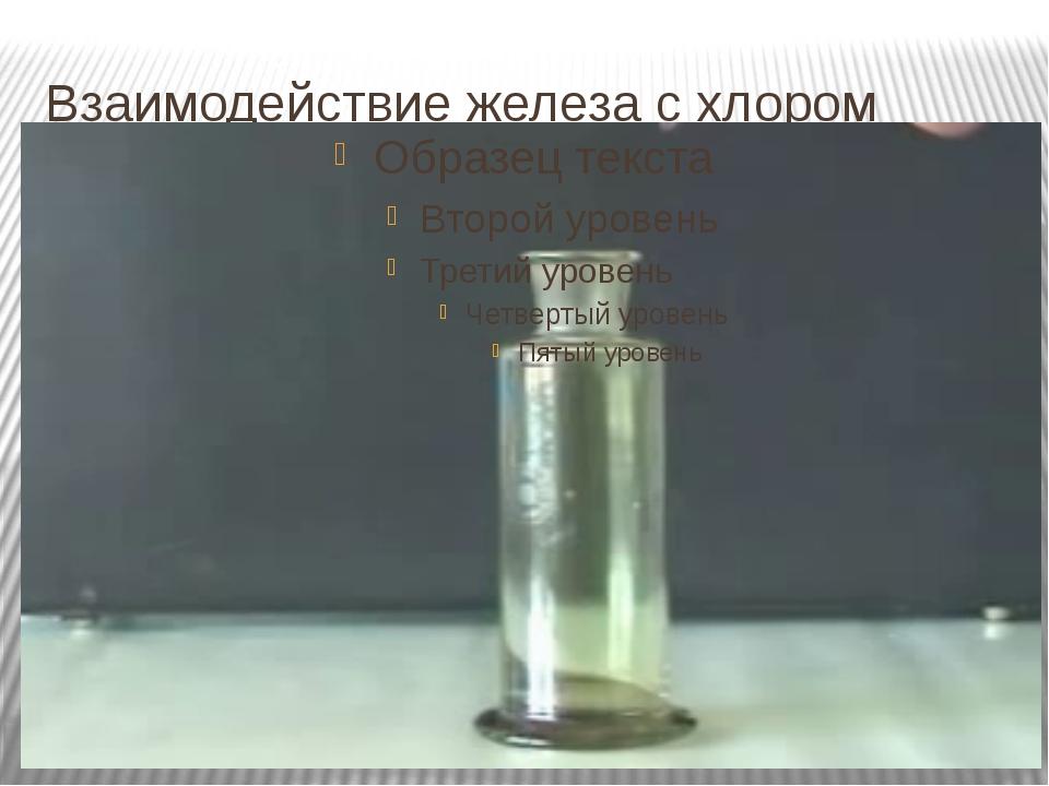Взаимодействие железа с хлором