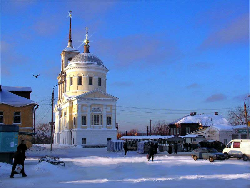 Ильинская площадь зимой