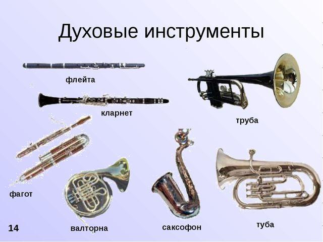 флейта кларнет фагот валторна саксофон труба туба Духовые инструменты 14