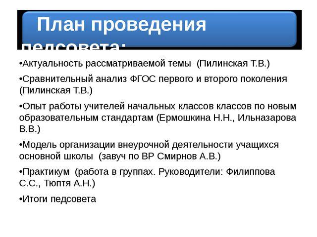 •Актуальность рассматриваемой темы (Пилинская Т.В.) •Сравнительный анализ ФГ...