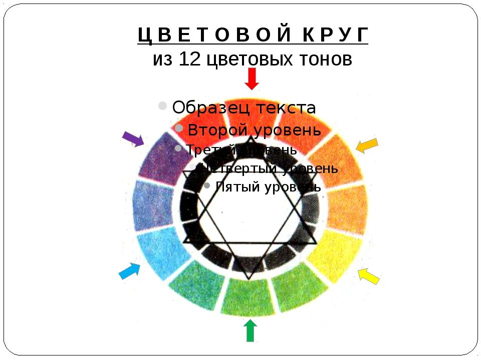 Ц В Е Т О В О Й К Р У Г из 12 цветовых тонов