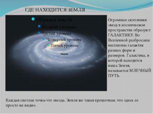 ГДЕ НАХОДИТСЯ ЗЕМЛЯ Огромные скопления звезд в космическом пространстве образ