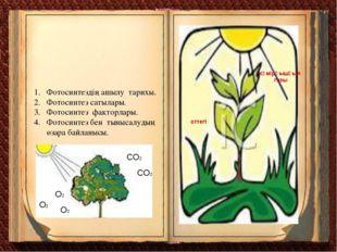 Фотосинтездің ашылу тарихы. Фотосинтез сатылары. Фотосинтез факторлары. Фотос