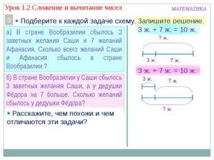 МАТЕМАТИКА 3  Подберите к каждой задаче схему. Запишите решение. а) В стране