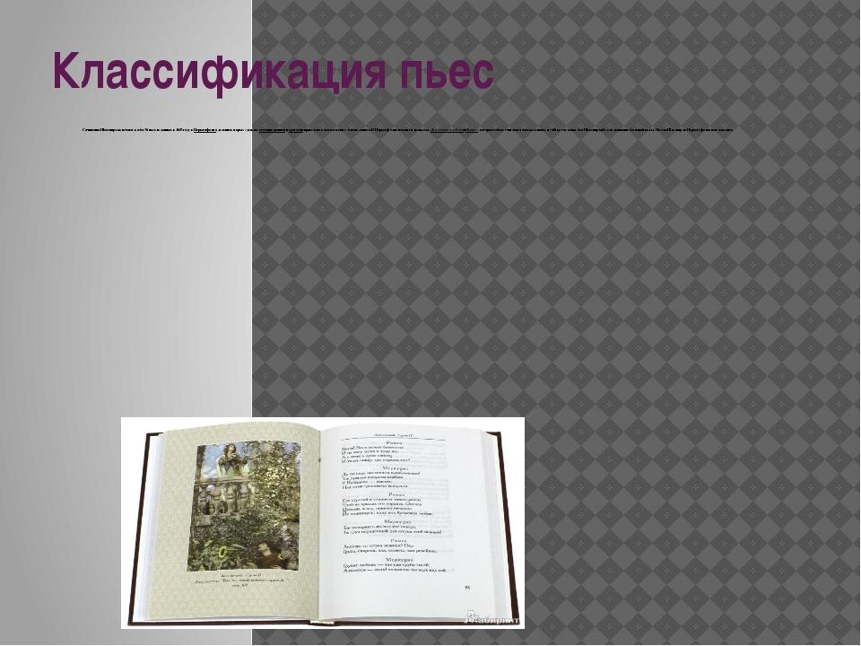Классификация пьес Сочинения Шекспира включают в себя 36 пьес, изданных в 162...